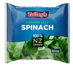 Premium chopped leaf Spinach