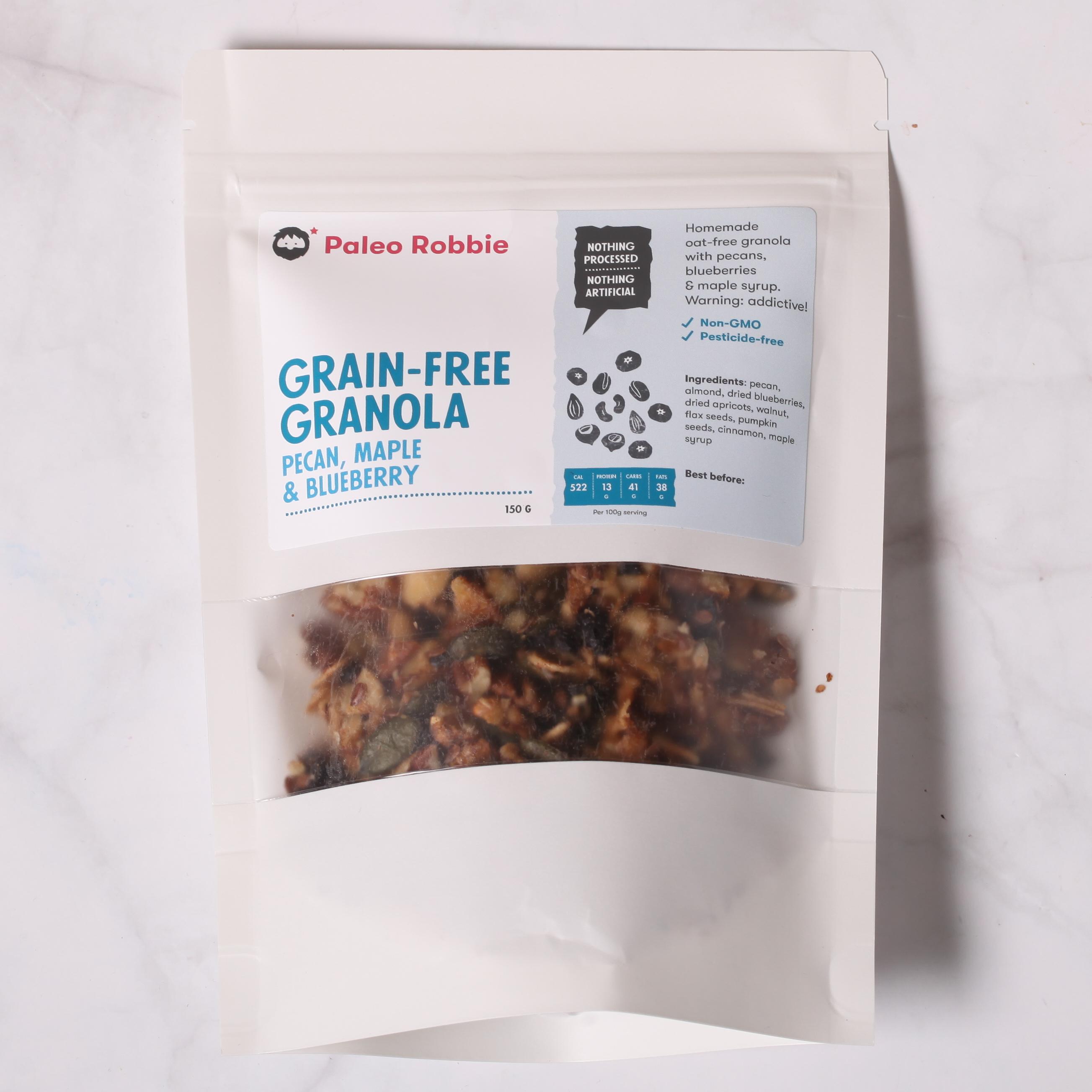Grain-free Granola: Pecan, Maple & Blueberry 150gr