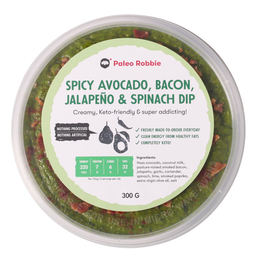 Spicy Avocado, Bacon, Jalapeno & Spinach Dip