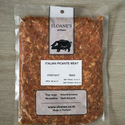 Italian Picante Sausage Meat (contains lactose)